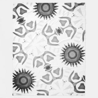 Polar cover Jimette black and white Design Fleece Blanket