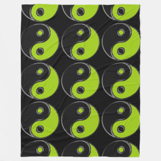 Polar cover Yin Yang Black/Green Anise Fleece Blanket
