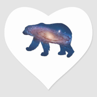 POLAR GALACTIC HEART STICKER