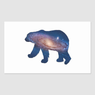 POLAR GALACTIC RECTANGULAR STICKER