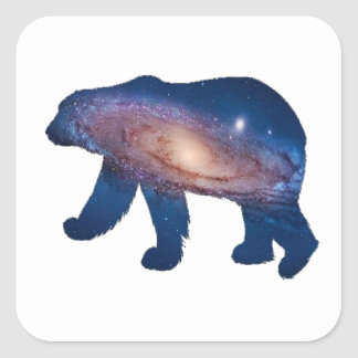 POLAR GALACTIC SQUARE STICKER