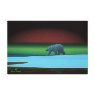 Polar Lights Polar Bear Gallery Wrap Canvas
