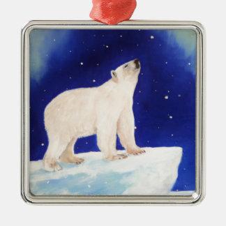 Polar Lights Silver-Colored Square Decoration