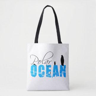 Polar Ocean White Customizable Tote Bag