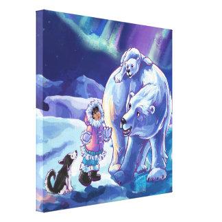 Polar Pals Gallery Wrap Canvas