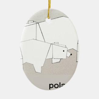 polar rubs ceramic ornament