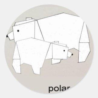 polar rubs classic round sticker
