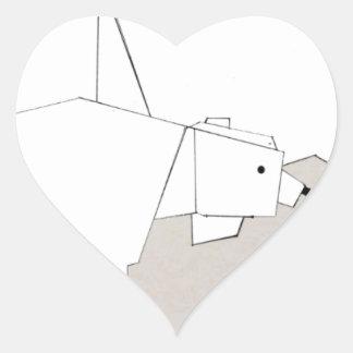 polar rubs heart sticker