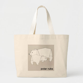 polar rubs large tote bag