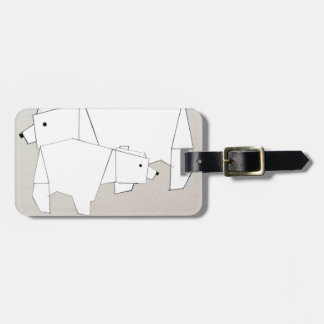 polar rubs luggage tag
