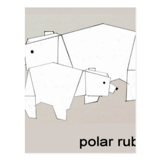 polar rubs postcard