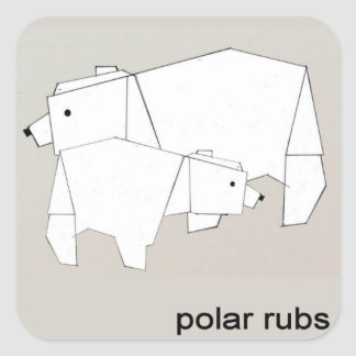 polar rubs square sticker