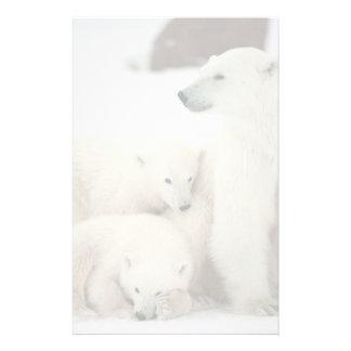 Polar She-bear With Cubs Stationery