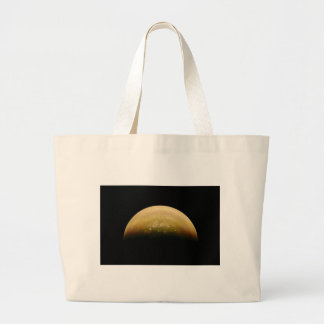 Polar View of jupiter Large Tote Bag