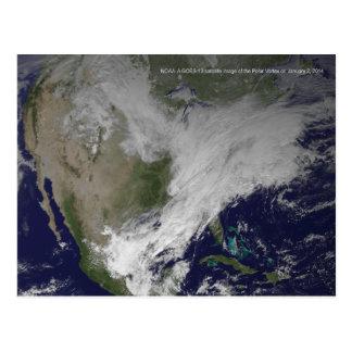 Polar Vortex 2014 North American Cold Wave Postcard