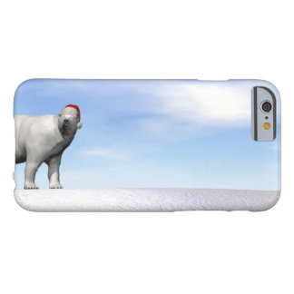 Polar white bear for christmas - 3D render Barely There iPhone 6 Case