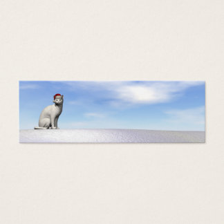 Polar white bear for christmas - 3D render Mini Business Card