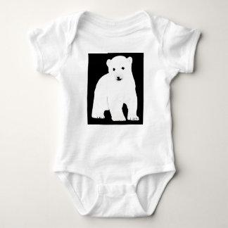 PolarBearCubBlackSF Baby Bodysuit