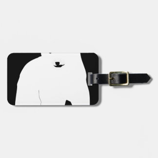 PolarBearCubBlackSF Luggage Tag