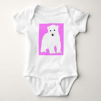 PolarBearCubPinkSF Baby Bodysuit