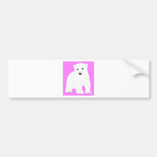 PolarBearCubPinkSF Bumper Sticker