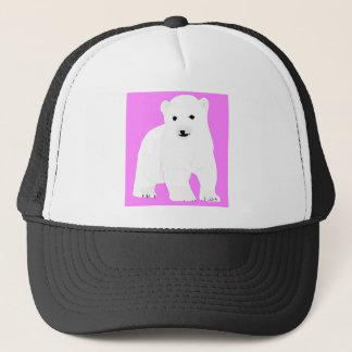PolarBearCubPinkSF Trucker Hat