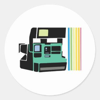Polaroid Camera Round Sticker