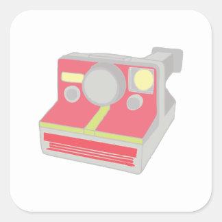Polaroid Camera Square Stickers