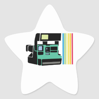Polaroid Camera Star Sticker