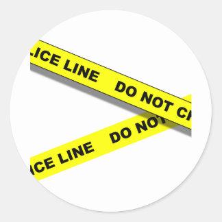 Polcie Line Classic Round Sticker