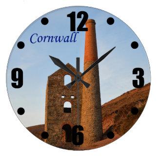 Poldark Country Mine Ruins Cornwall England Clock