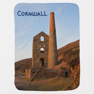Poldark Country Mine Ruins Cornwall England Receiving Blanket