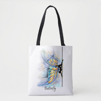 Pole Dance Butterfly Pose with Butterfly Wings Bag