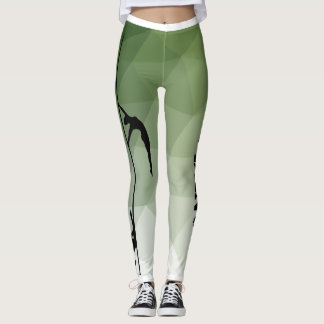 Pole Dance Sport Green Leggings