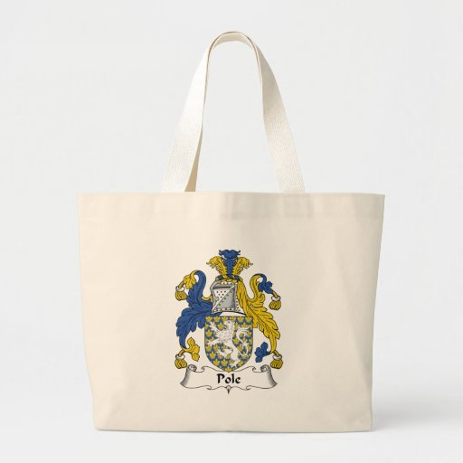 Pole Family Crest Tote Bag