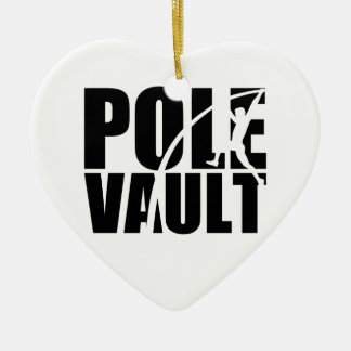 Pole vault ceramic ornament
