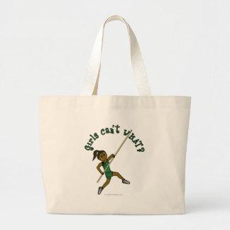 Pole Vault - Green (Dark) Jumbo Tote Bag
