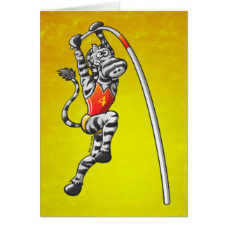 Pole Vault Zebra Cards