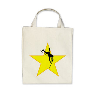 Pole Vaulter Silhouette Star Bags