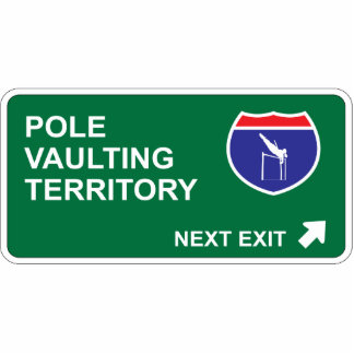 Pole Vaulting Next Exit Photo Sculpture Decoration