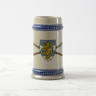 Poleaxes and Shield Beer Stein