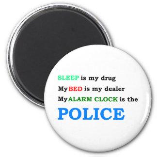Police 6 Cm Round Magnet