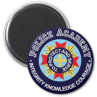 Police Academy 6 Cm Round Magnet