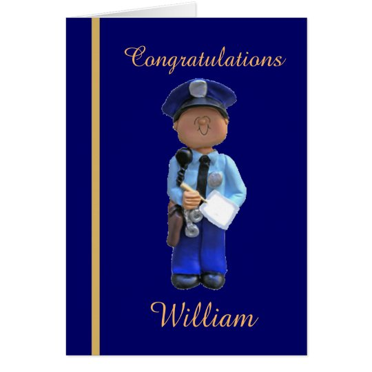 Police Academy Graduation Card
