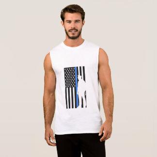 police back american flag the blue sleeveless shirt