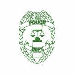 Police Badge Outline Embroidered Track Jackets