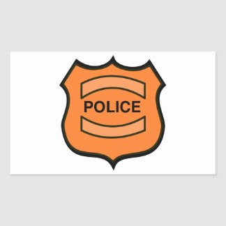 Police Badge Rectangular Sticker