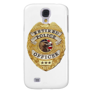Police_Badge_Retired Samsung Galaxy S4 Case