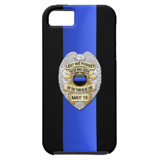 Police Badge - Thin Blue Line iPhone 5 Case