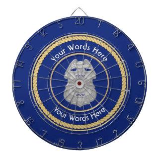 Police Badge Universal Shield Dartboard